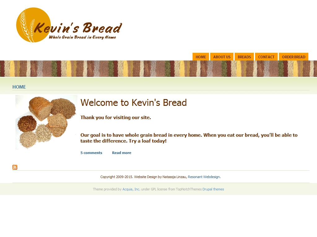 Kevin's Bread Website