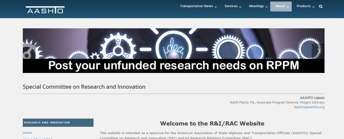 Special Committee on Research and Innovation (R&I)/Research Advisory Committee (RAC) Website